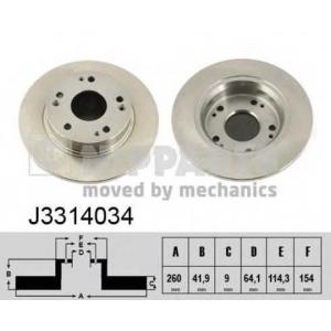 NIPPARTS J3314034 Тормозной диск