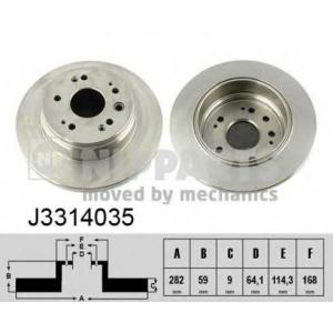 NIPPARTS J3314035 Тормозной диск