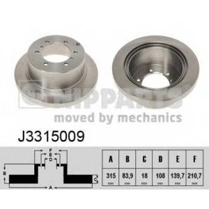 NIPPARTS J3315009 Диск гальмівний