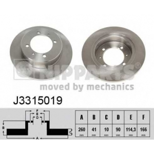 NIPPARTS J3315019 Тормозной диск
