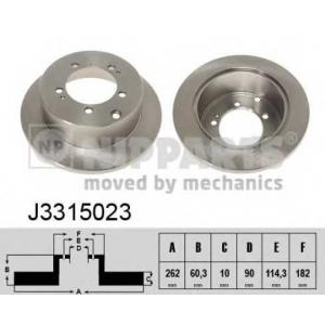 NIPPARTS J3315023 Тормозной диск
