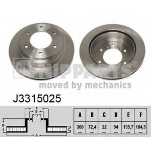 NIPPARTS J3315025 Тормозной диск