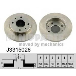 NIPPARTS J3315026 Тормозной диск