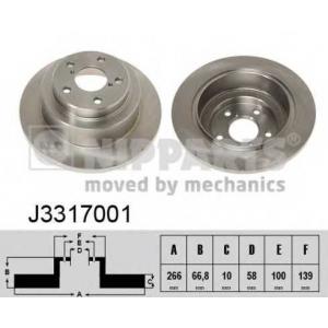 NIPPARTS J3317001 Диск гальмівний