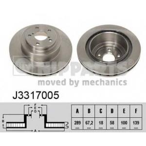 NIPPARTS J3317005 Тормозной диск