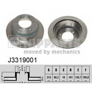 NIPPARTS J3319001 Диск гальмівний