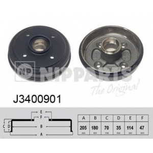 NIPPARTS J3400901 Тормозной барабан