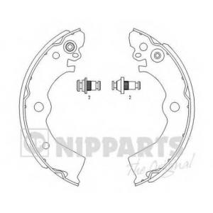NIPPARTS J3501042 Комплект тормозных колодок