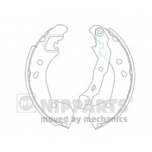 NIPPARTS J3501055 Комплект тормозных колодок