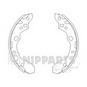 NIPPARTS J3503037 Комплект тормозных колодок