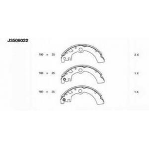 NIPPARTS J3508022 Комплект тормозных колодок
