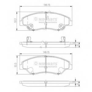 NIPPARTS J3600309 Комплект тормозных колодок