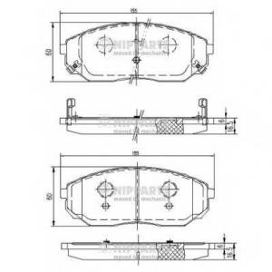 NIPPARTS J3600318 Комплект тормозных колодок