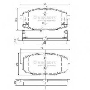 NIPPARTS J3600319 Комплект тормозных колодок