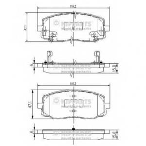 NIPPARTS J3600323 Комплект тормозных колодок