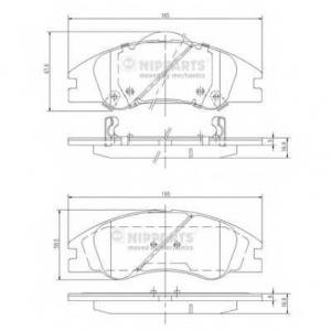 NIPPARTS J3600326 Комплект тормозных колодок