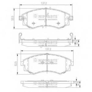 NIPPARTS J3600401 Комплект тормозных колодок