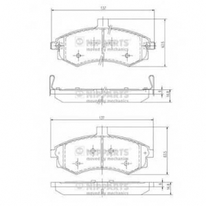 NIPPARTS J3600535 Комплект тормозных колодок