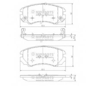 NIPPARTS J3600541 Колодки гальмівні дискові