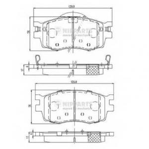 NIPPARTS J3600542 Комплект тормозных колодок