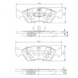 NIPPARTS J3600900 Комплект тормозных колодок