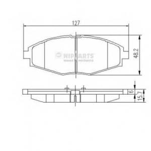 NIPPARTS J3600909 Комплект тормозных колодок