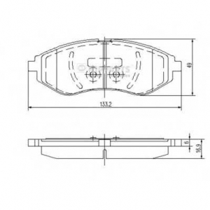 NIPPARTS J3600911 Комплект тормозных колодок