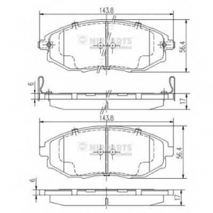 NIPPARTS J3600912 Комплект тормозных колодок