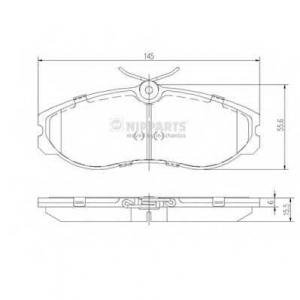 NIPPARTS J3601056 Комплект тормозных колодок, дисковый тормоз