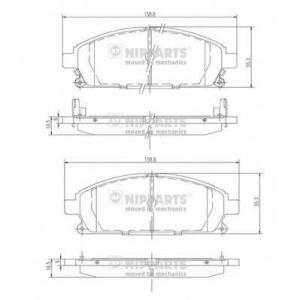 NIPPARTS J3601071 Комплект тормозных колодок