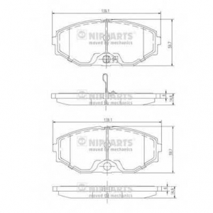 NIPPARTS J3601074 Комплект тормозных колодок