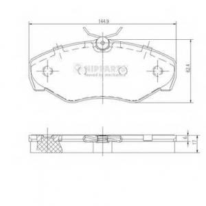 NIPPARTS J3601080 Комплект тормозных колодок
