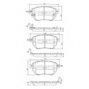 NIPPARTS J3601092 Комплект тормозных колодок