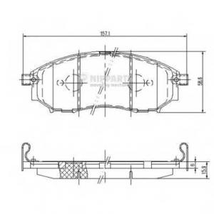 NIPPARTS J3601094 Комплект тормозных колодок