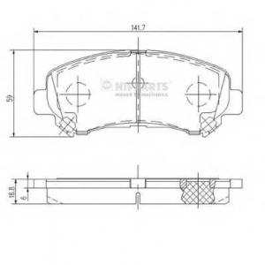 NIPPARTS J3601096 Комплект тормозных колодок