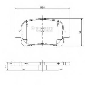 NIPPARTS J3602081 Комплект тормозных колодок