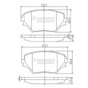 NIPPARTS J3602095 Комплект тормозных колодок