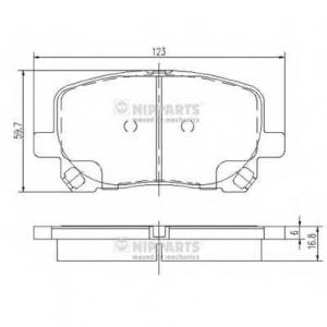 NIPPARTS J3602096 Комплект тормозных колодок