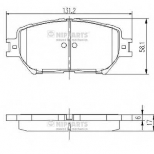 NIPPARTS J3602099 Комплект тормозных колодок