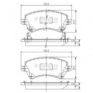 NIPPARTS J3602101 Комплект тормозных колодок