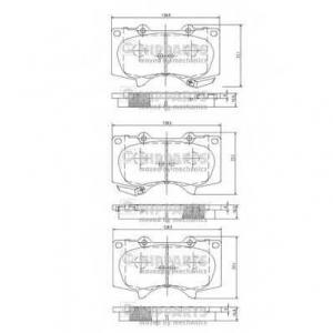 NIPPARTS J3602109 Комплект тормозных колодок