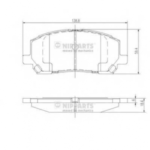 NIPPARTS J3602118 Комплект тормозных колодок