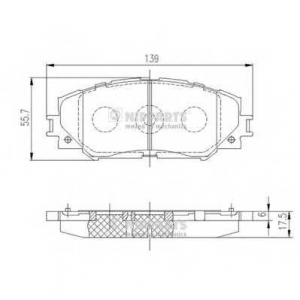 NIPPARTS J3602120 Комплект тормозных колодок