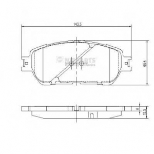 NIPPARTS J3602121 Комплект тормозных колодок