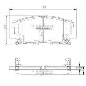 NIPPARTS J3602125 Комплект тормозных колодок