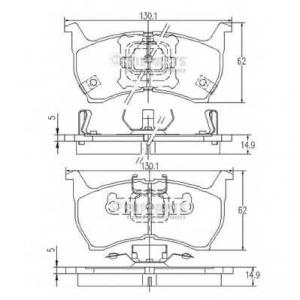 NIPPARTS J3603001 Комплект тормозных колодок