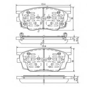 NIPPARTS J3603055 Комплект тормозных колодок