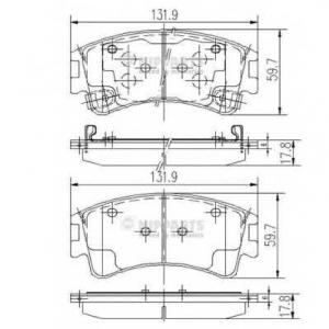 NIPPARTS J3603056 Комплект тормозных колодок