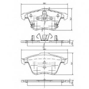 NIPPARTS J3603067 Комплект тормозных колодок
