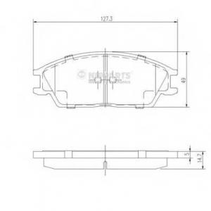 NIPPARTS J3604020 Комплект тормозных колодок